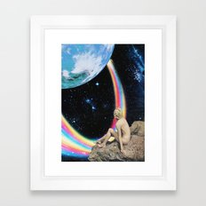 Demos un paseo Framed Art Print