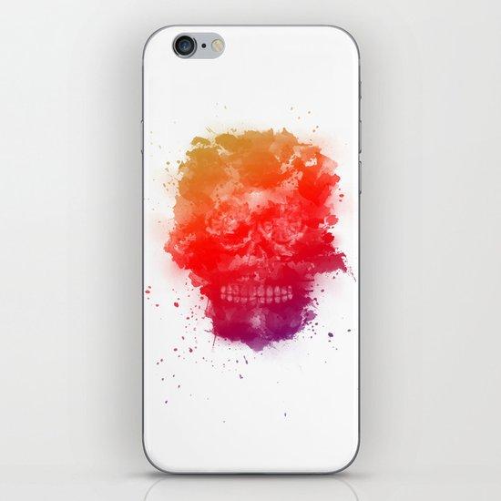 Rainbow Splatter Skull iPhone & iPod Skin