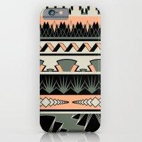 art deco stripes - salmon iPhone 6 Slim Case