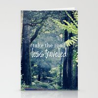 Take The Road Less Travelled Stationery Cards