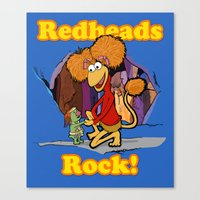 Redheads Rock! Canvas Print