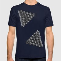 Fractalina Mens Fitted Tee Navy SMALL