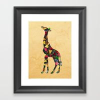 Animal Mosaic - The Gira… Framed Art Print
