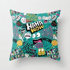 Laughing Pattern Throw Pillow