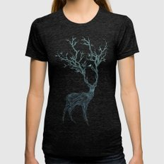 Blue Deer Womens Fitted Tee Tri-Black MEDIUM