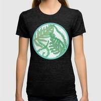 Fern Womens Fitted Tee Tri-Black SMALL