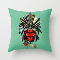 THE INDIAN SUMMER Throw Pillow