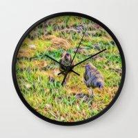Hens On The Farm Wall Clock