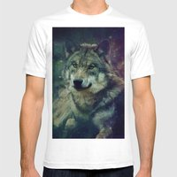 WOLF II Colored Mens Fitted Tee White SMALL