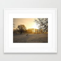 Cold Morning Framed Art Print
