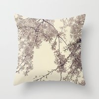 Raintree Lavender pink tree blossoms Throw Pillow