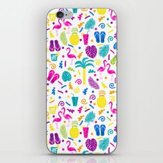 Tropical Summer flamingo bird pineapple nature trendy hipster minimal print children vacation desert iPhone & iPod Skin