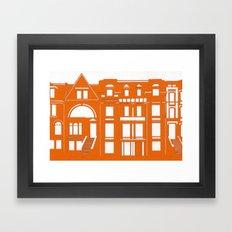 Brownstones Framed Art Print