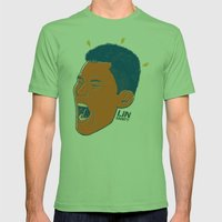 Jeremy Lin — Linsanity Mens Fitted Tee Grass SMALL