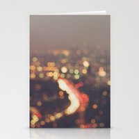 bokeh photograph, Los Angeles, Abstract Mulholland Stationery Cards