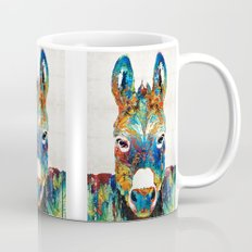 Colorful Donkey Art - Mr. Personality - By Sharon Cummings Mug