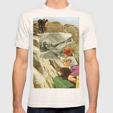 Looking  Mens Fitted Tee Natural SMALL