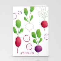 Radishes Stationery Cards