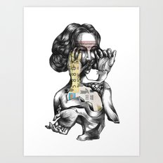 lottery girl Art Print