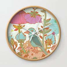 The Blue Bird Wall Clock