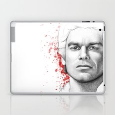 Dexter Morgan Portrait, Blood Splatters Laptop & iPad Skin