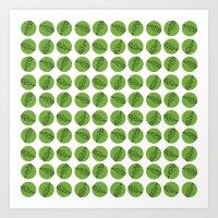 Green pattern  Art Print