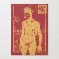 Masked & Untitled Canvas Print