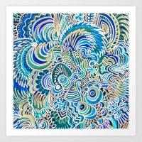 A Snowflake and Angels Wings - a rokinronda Abstract Art Print