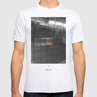 Train Thinks @ NYC Mens Fitted Tee Ash Grey SMALL
