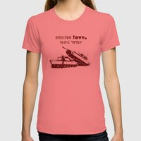 Make love, not war! Womens Fitted Tee Pomegranate SMALL