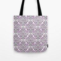Damask Nature Pink Tote Bag