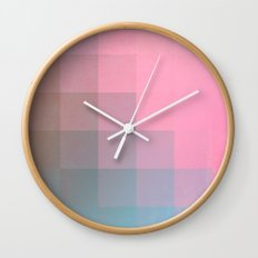 Girly Pixel Surface Wall Clock