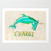 CHARGE! Art Print