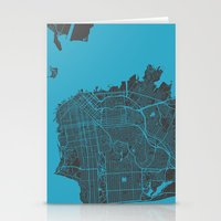 san francisco Stationery Cards featuring San Francisco by Map Map Maps
