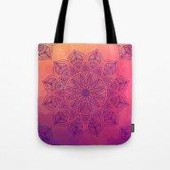 Happy Mandala Tote Bag