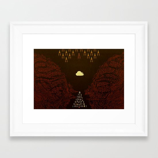 Parting the Red Sea (by Julia Kuo) Framed Art Print