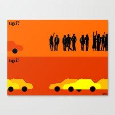 le taxi Canvas Print