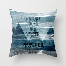 waste Throw Pillow