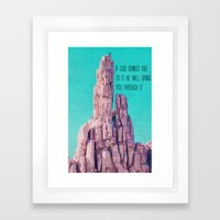 If God brings you to it Framed Art Print