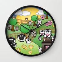 Down On Dingle Dopple Farm Wall Clock