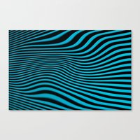 Stripes In Blue Canvas Print
