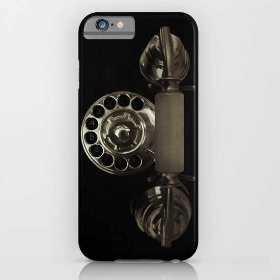 Old rotary dial phone iPhone & iPod Case