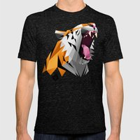 TML polygon tiger ROAR!!! Mens Fitted Tee Tri-Black SMALL