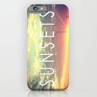 iPhone & iPod Case featuring Sunsets by Elektrikk