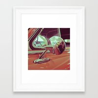 Framed Art Print featuring Classic mirror by Vorona Photography