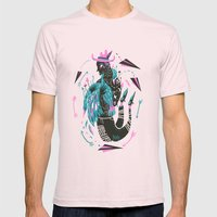 Dead Weight (Lost Time) Mens Fitted Tee Light Pink SMALL