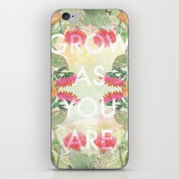 Grow As You Are iPhone & iPod Skin