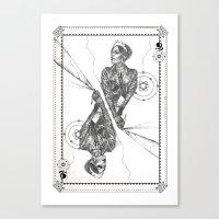Queen of Carbon II Canvas Print