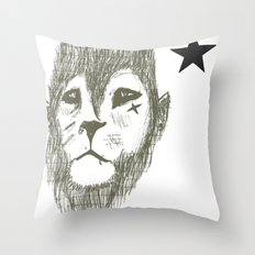 Punkster Lion *remade for tshirts* Throw Pillow