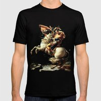 Napoleon Crossing The Al… Mens Fitted Tee Black SMALL